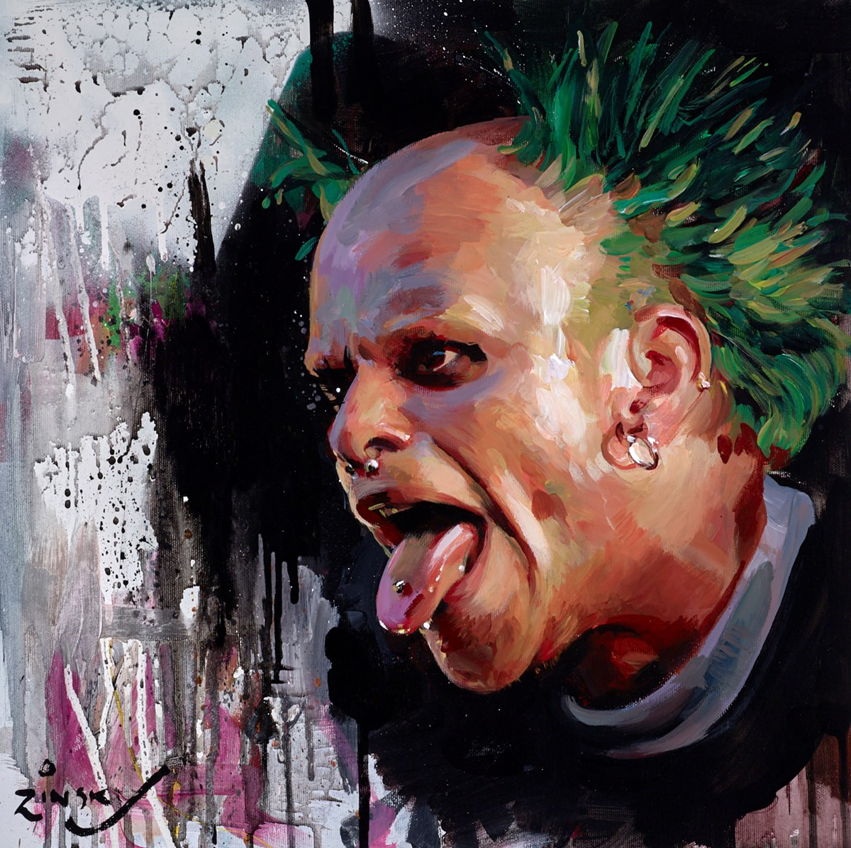 Keith Flint by zinsky -  sized 17x17 inches. Available from Whitewall Galleries